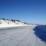 ice road between Inuvik and Tuk