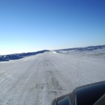ice road on the arctic ocean